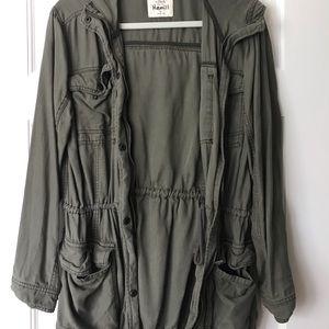 Abercrombie army green jacket